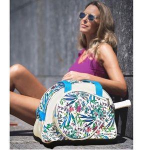 IDAWEN vegan blue cream tennis gym bag! NEW